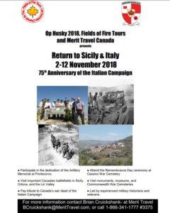 Sicily & Italy: Op HUSKY 2018, Return to Sicily & Italy (RCAA)