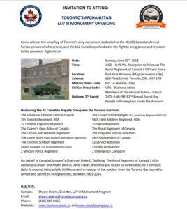Toronto: Unveiling Toronto's LAV III Afghanistan Monument (CC)