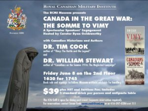 Toronto, Canada in the Great War, The Somme to Vimy (RCMI) @ RCMI