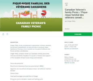 Montreal, CF and Veteran's BBQ & Picnic (CC) @ Petty Estate