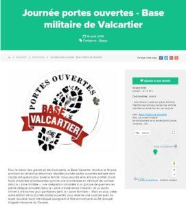 Valcartier, Journée Portes Ouvertes (CFMV)