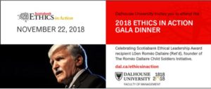 "Halifax: Gala Dinner, ""Scotiabank Ethics in Action"" (RUSI NS) @ Canadian Museum of Immigration,"