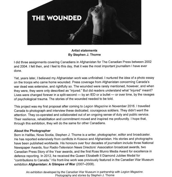CWM Exhibit: The Wounded, 15 Feb-2 Jun '19