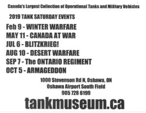 Oshawa, Tank Saturday @ Ontario Regiment Tank Museum (RCACA) @ Ontario Regiment Museum